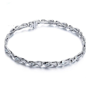 1.5CT Natural Diamond 18k White Gold Engagement Bracelets Jewelry for Women - jewelrycafee