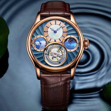 Load image into Gallery viewer, GUANQIN 2019 Real Tourbillon Mechanical Hand Wind Mens Watches Top Brand Luxury Skeleton Clock men Sapphire Relogio Masculino - jewelrycafee