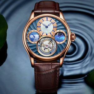 GUANQIN 2019 Real Tourbillon Mechanical Hand Wind Mens Watches Top Brand Luxury Skeleton Clock men Sapphire Relogio Masculino - jewelrycafee