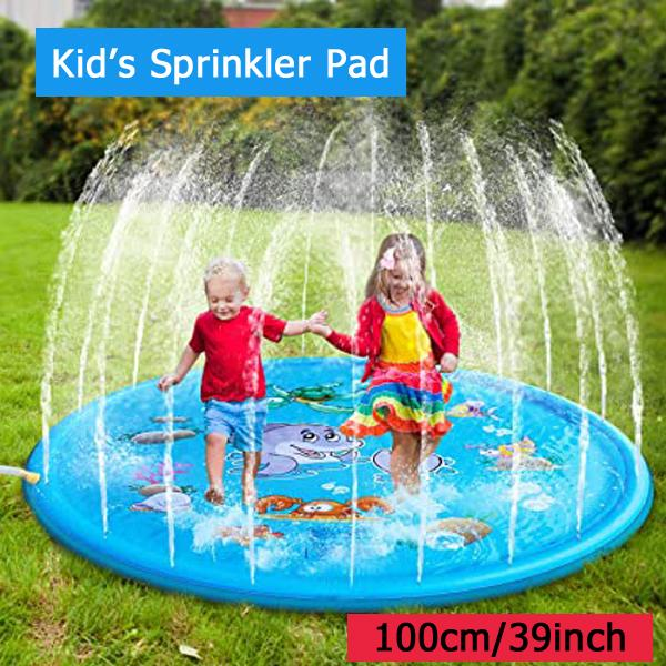 Sprinkler Pad & Splash Play Mat for Kids 100CM ( 39'')