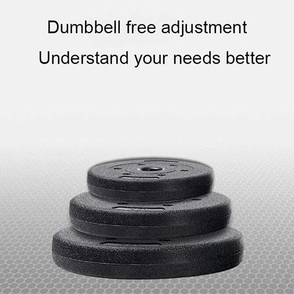 Dual-use Detachable Dumbbell Splicing Barbell Set