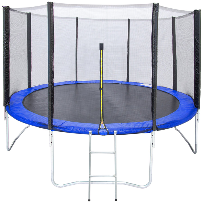 12ft Kids Trampoline with Ladder and Zipper