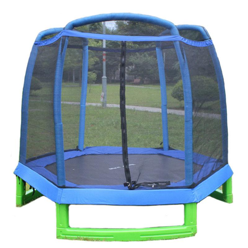 7 Ft|First KidsTrampoline|Safety Enclosure Net|Indoor/Outdoor|Massfits