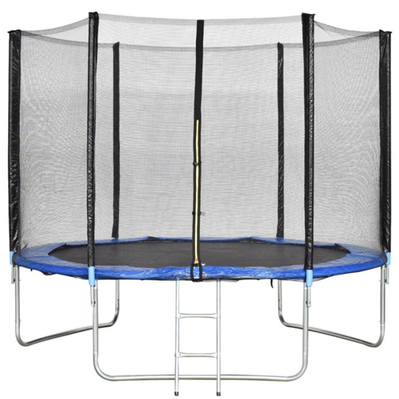 10ft Kids Trampoline with Ladder and Zipper