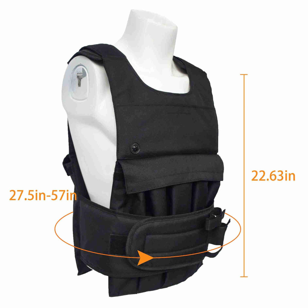 Adjustable Training Weight Vest |  With Multi-pocket |  Massfits