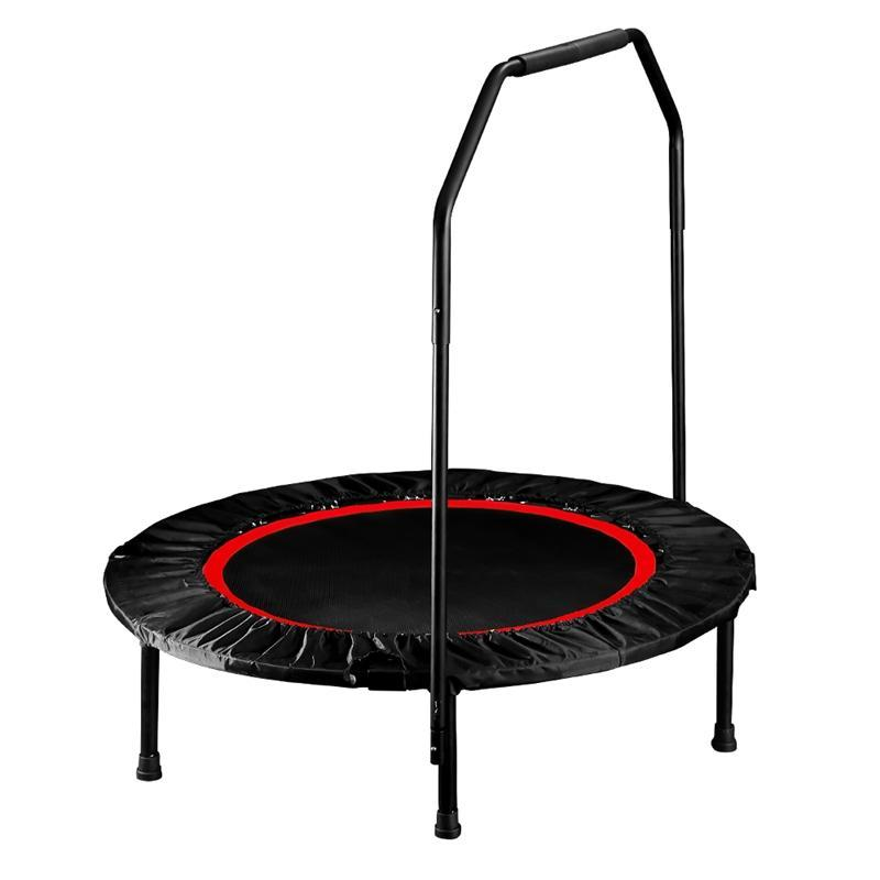Foldable Trampoline 40'' With Handrail - Red