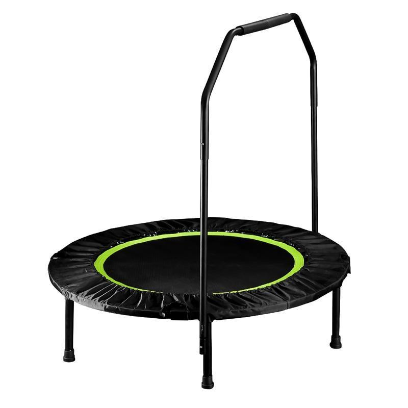 Foldable Trampoline 40'' With Handrail - Green