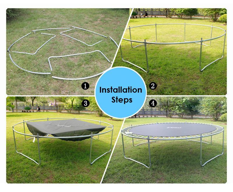 8ft Kids Trampoline with Ladder and Zipper