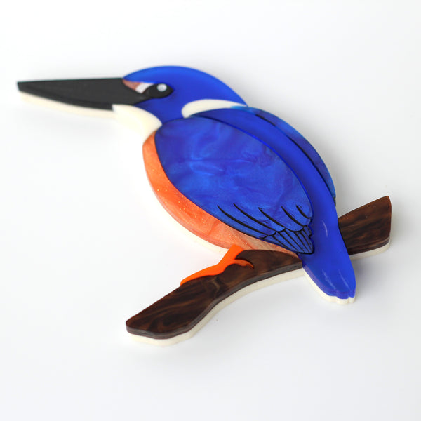 Kingsley the Azure Kingfisher brocch