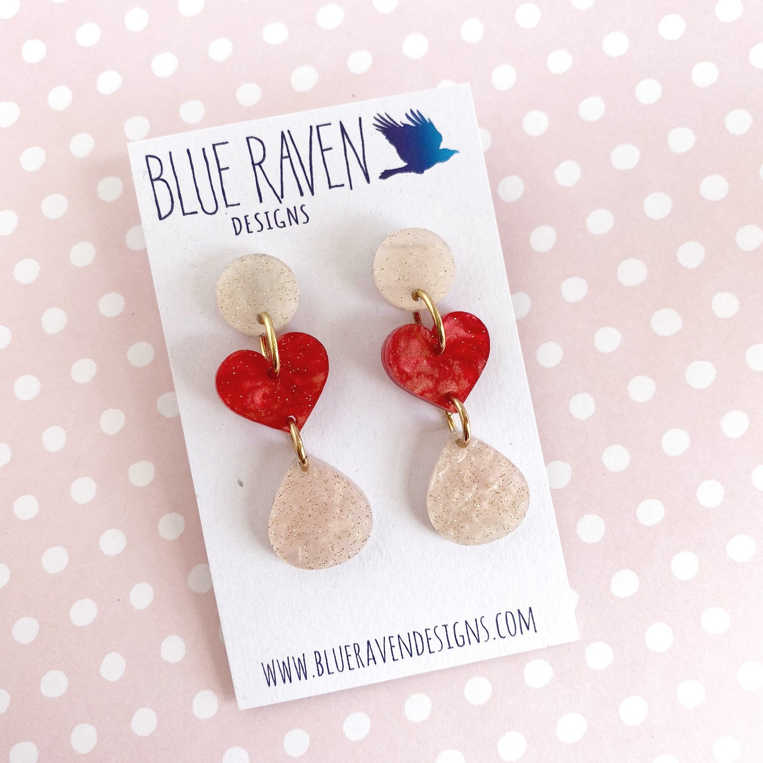 Heart earrings D