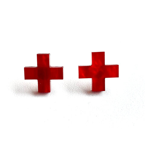 Hospital studs - Red Marble