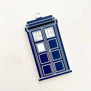 Tardis/Police Box brooch - Dark Blue