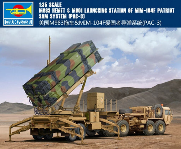M983 HEMTT & M901 Launching Station of MIM-104F Patriot SAM System (PAC-3) (Trumpeter))