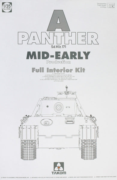 Panther Ausf. A Mid-Early Prod. (Full Interior) (Takom)