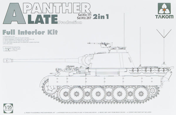 Pz.Kpfw.V Ausf. A Sd.Kfz. 171/267 Panther Late Prod. (Full Interior Kit) (Takom)