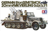 German 8ton Semitrack 20mm Flakvierling Sd.Kfz. 7/1 (Tamiya) + Eduard 35183 PE Seti