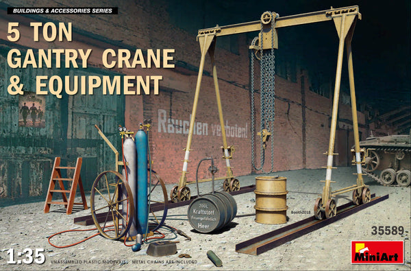 1/35 5 Ton Gantry Crane & Equipment (Miniart)
