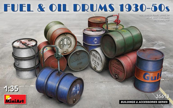 1/35 Fuel and Oil Drums 1930-50s (Miniart)