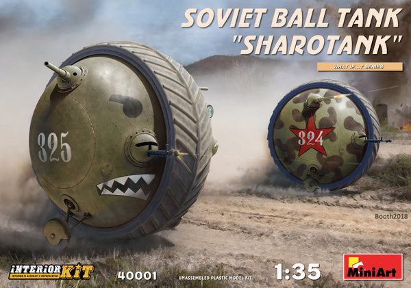 "Soviet Ball Tank ""Sharotank"" w/Interior (Miniart)"