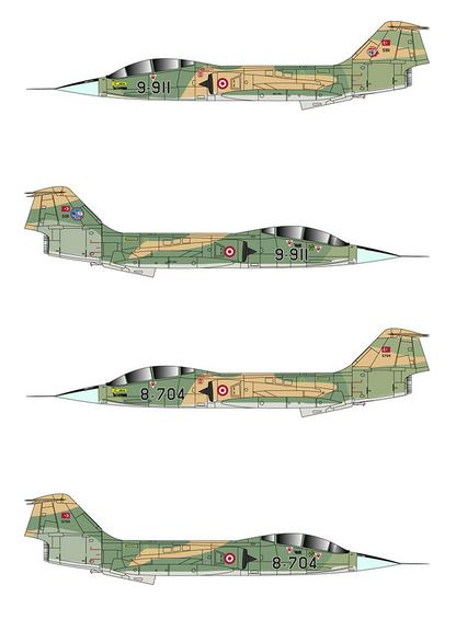 Turkish Air Forces TF-104G (TigerHead Decals)