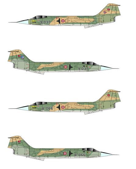 Turkish Air Forces F-104 G (TigerHead Decals)
