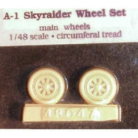 1/48 A-1 Skyraider Wheel Set (True Details)