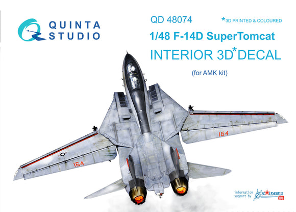 F-14D Super Tomcat Interior 3D Decal (Quinta Modelling Studio)