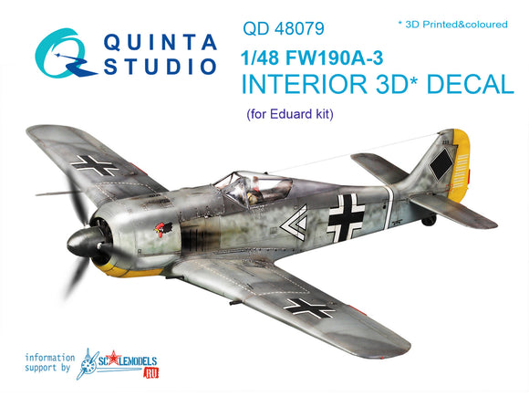 FW190A-3 Interior 3D Decal (Quinta Modelling Studio)