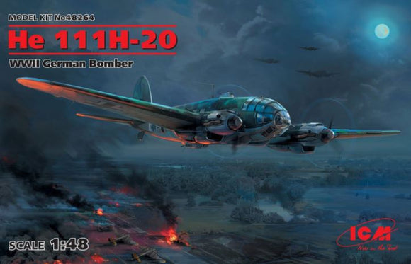He 111H-20 WWII German Bomber (ICM)