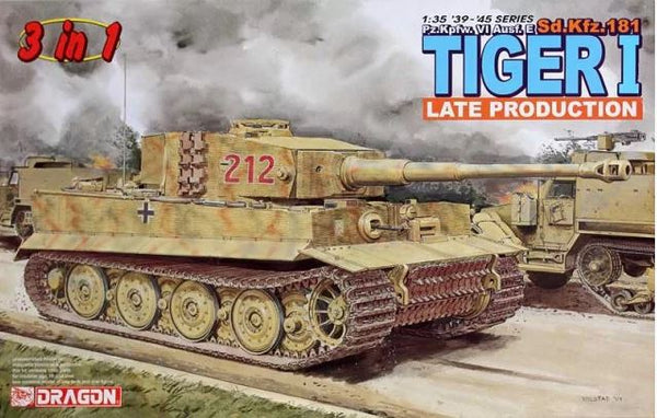 Pz.Kpfw. VI Ausf. E Sd.Kfz. 181 Tiger I Late Production (3 in 1) (Dragon)
