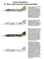 Exotic Starfighters (F-104 in TUAF, Pak and Jordanian) (Tigerhead Decals)