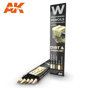 Watercolor Pencil Set Splashes, Dirt and Marks (AK Interactive)