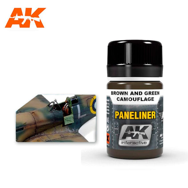 Paneliner for Brown and Green Camouflage (AK Interactive)