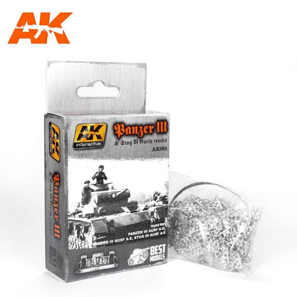 1/35 Panzer III & Stug III Early Tracks (AK Interactive)