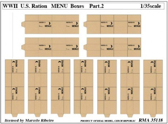 WWII Ration Menu Boxes Part 2 (Real Model)