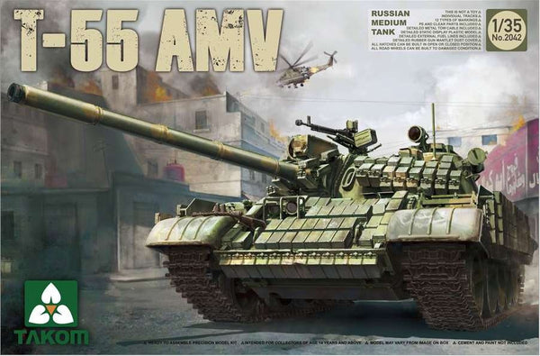Russian Medium Tank T-55 AMV (TAKOM)