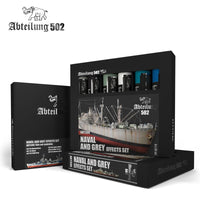 Naval and Grey Effects Set - 6 x 20 ml, Oil Paint (Abteilung 502)