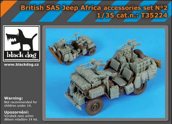 1/35 British SAS Jeep Africa Accessories Set (Black Dog)