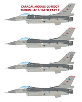 Turkish Air Force F-16C/D Part 2 (Caracal Decal)