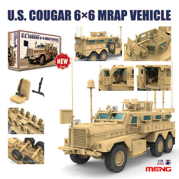 U.S. Cougar 6x6 MRAP Vehicle (MENG)