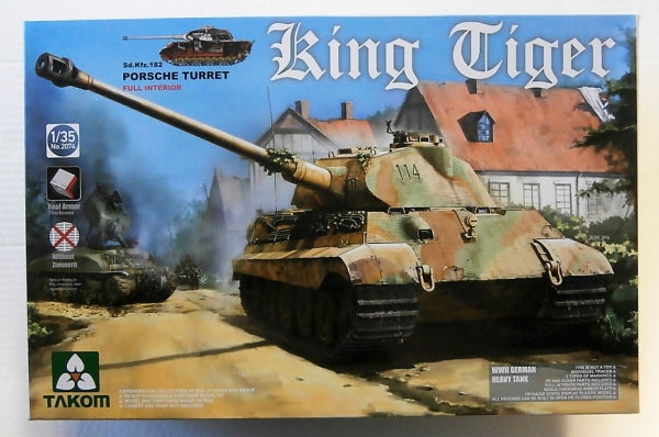 King Tiger Sd.Kfz.182 Porsche Turret (Takom)