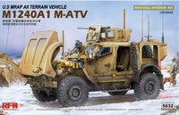 U.S MRAP All Terrain Vehicle M1240A1 M-ATV with Full Interior (Rye Field Model)