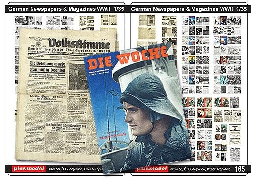 German Newspaper & Magazines WWII (Plus Model)