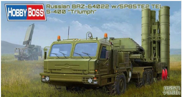 Russian BAZ-64022 with 5P85TE2 TEL S-400 (Hobby Boss)
