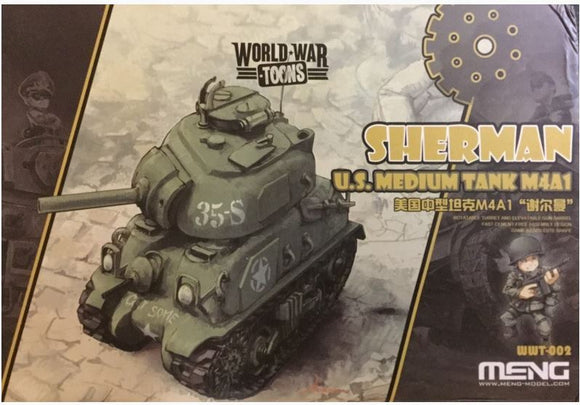 World War Toons - Sherman U.S. Medium Tank M4A1 (Meng)
