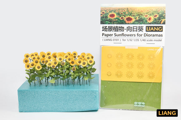 Paper Sunflowers for Dioramas (Liang Model)