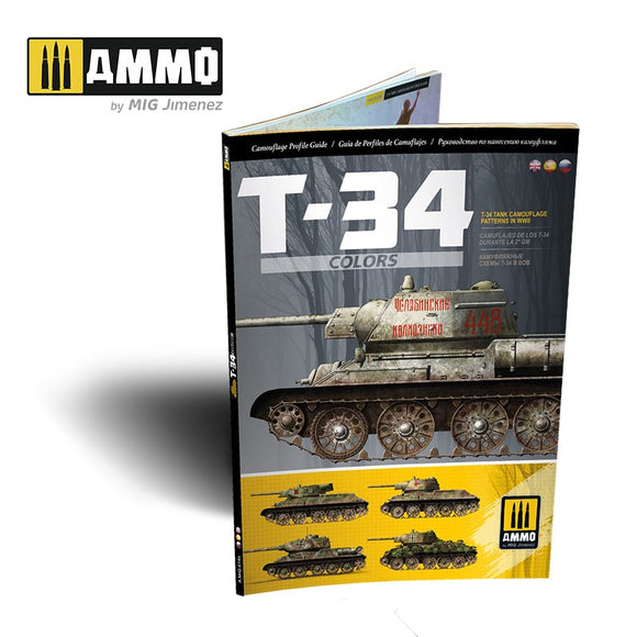 T-34 Colors - T-34 Tank Camouflage Patterns in WWII (Multilingual) (Ammo Mig)