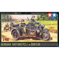 German Motorcycle & Sidecar (Tamiya)