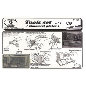 1/35 Tool Set No. 2 for Zimmerit Application (Royal Model)