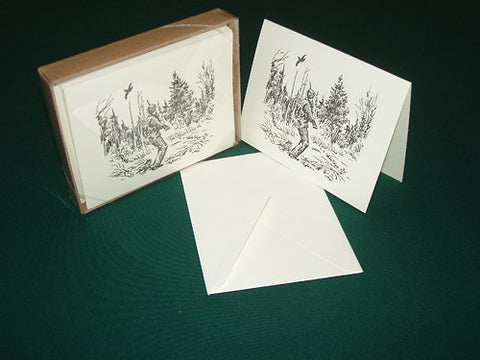 Wing Shooting Notecards by Artist Gordon Allen